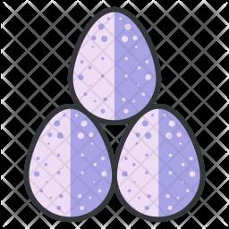 Eggs Colored Outline Icon
