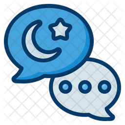 Eid Mubarak Chat Colored Outline Icon