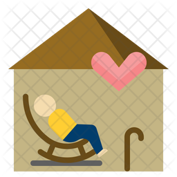 Elderly care Flat Icon