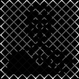 Elderly health issue Glyph Icon