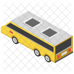 Electric Bus Icon