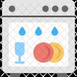 Electric Dishwasher Icon