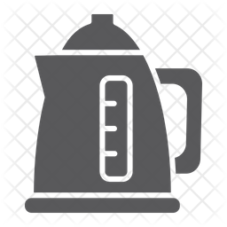 Electric Kettle Glyph Icon