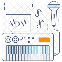 Electric Keyboard Icon Of Colored Outline Style Available In Svg Png Eps Ai Icon Fonts