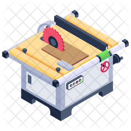 Electric Saw Machine Icon