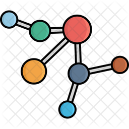 Electron Connection Colored Outline Icon