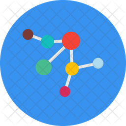 Electron Connection Flat Icon