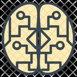 Electronic brain Icon