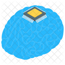 Electronic Brain Chip Icon