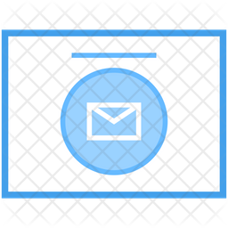 Electronic Mail Colored Outline Icon