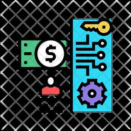 Electronic Money Security Icon