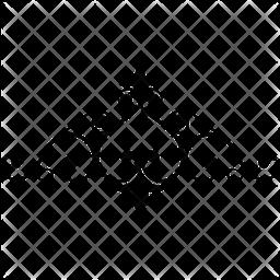 Elegant Border Glyph Icon