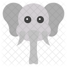 Elephant Face Emoji Icon
