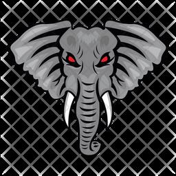 Elephant Face Icon