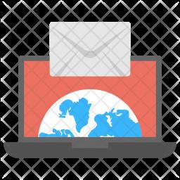 Email Flat  Logo Icon