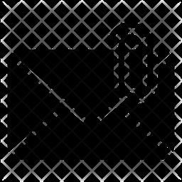 Email Attachment Glyph Icon