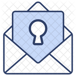 Email security Colored Outline Icon
