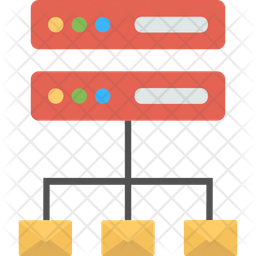 Email Server Flat Icon