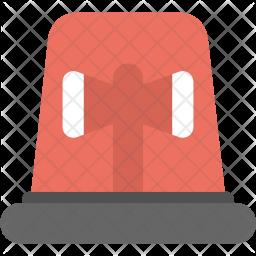 Emergency Siren Flat Icon