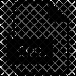 Eml File Glyph Icon