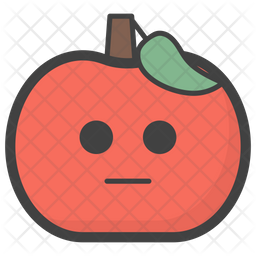Emotionless Apple Emoji Icon