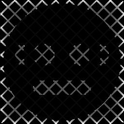 Emotionless Face Emoji Icon