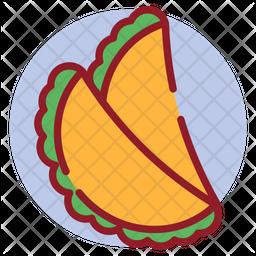 Empanada Colored Outline Icon