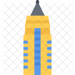 Empire state Flat Icon