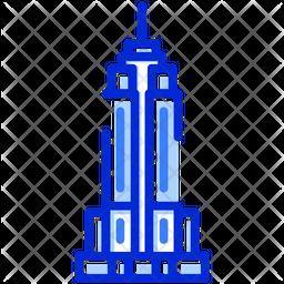 Empire State Building Dualtone Icon