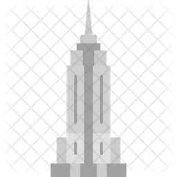 Empire State Building Flat Icon