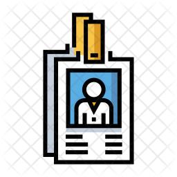 Employee Id Icon Of Colored Outline Style Available In Svg Png Eps Ai Icon Fonts