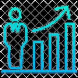 Employee Performance Chart Gradient Icon