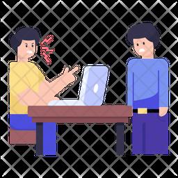 Employee Scolding Icon