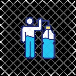 Energy drinking Icon