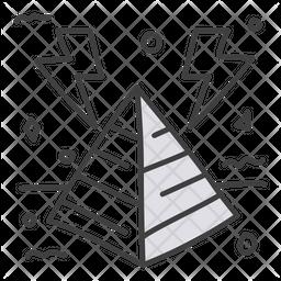 Energy Pyramid Doodle Icon