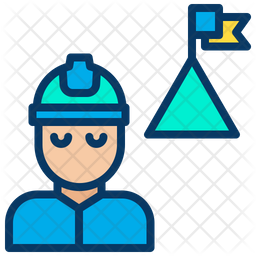 Engineering Achievement Colored Outline Icon
