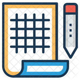 Engineering Blueprint Icon