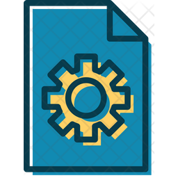Engineering File Colored Outline Icon