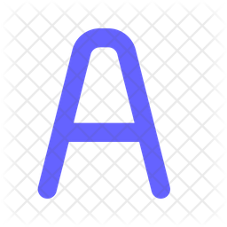English letter a Flat Icon