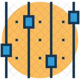 Equalizer Colored Outline Icon
