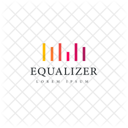 Equalizer Logo Colored Outline Icon