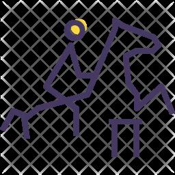 Equestrian Colored Outline Icon