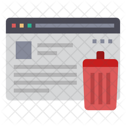 Erase Data Icon