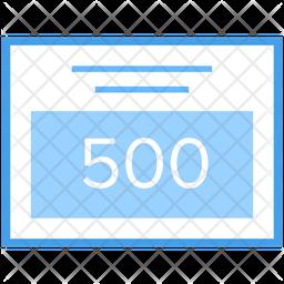 Error 500 Icon