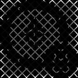 Ethereum Encryption Glyph Icon