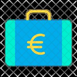 Euro Briefcase Icon
