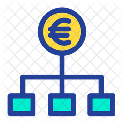 Euro Flow Colored Outline Icon