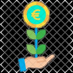 Euro grow Icon
