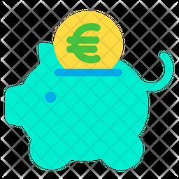 Euro Piggy Icon