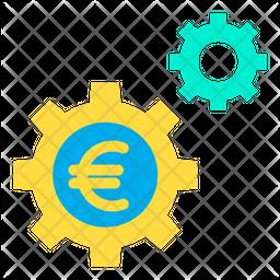 Euro Setting Wheel Icon